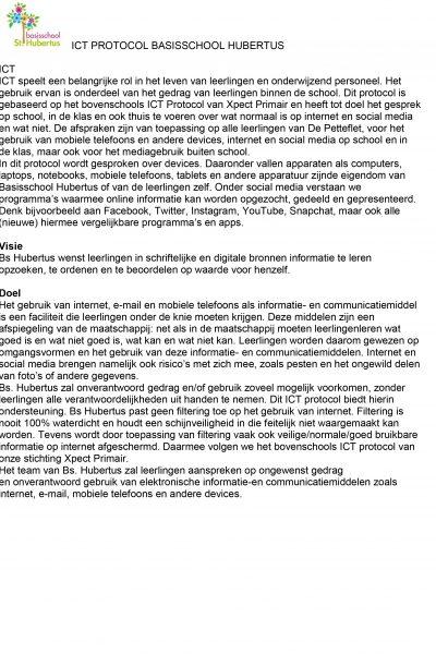 ICT protocol 2017 Hubertus