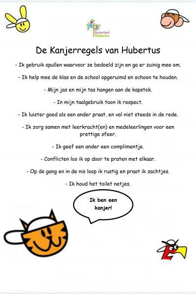 De Kanjerregels van bs Hubertus